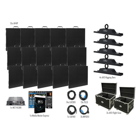 American DJ AV4IP 5x3 High-Resolution Video Panel Complete System Package