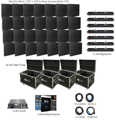 American DJ AV6 7x4 LED Video Panel System Package