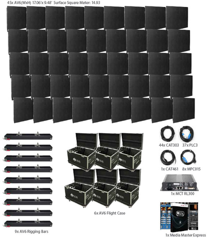 American DJ AV6 9x5 LED Video Panel System Package