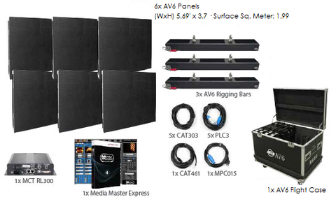 American DJ AV6 3x2 LED Video Panel System Package
