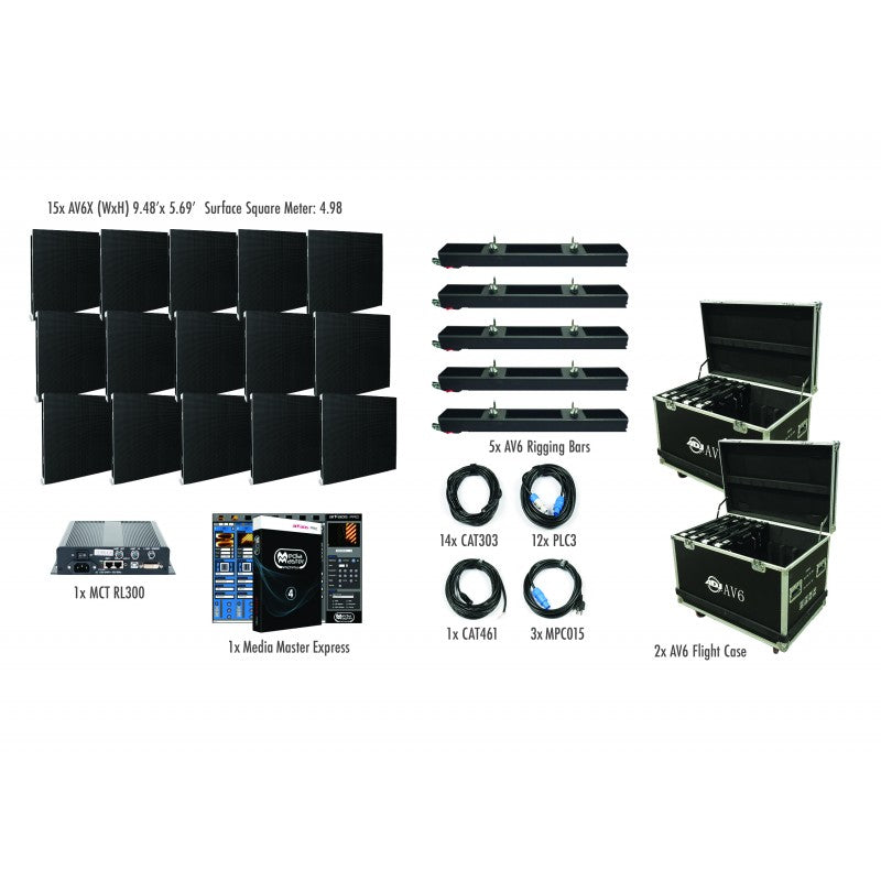 American DJ AV6X Package