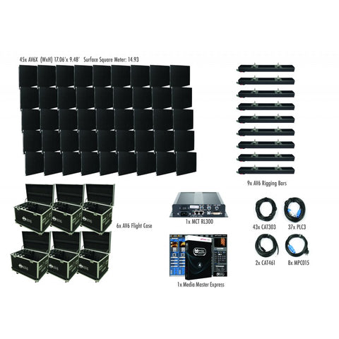 American DJ AV6X 6mm LED Video Wall 9x5 Complete System Package