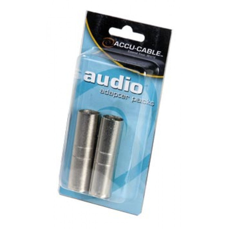 Accu Cable AXLRC3PMM Male 3 Pin XLR to Male 3 Pin XLR Adapter