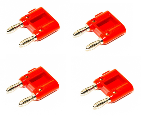 Kirlin Banana Plug - Red - Package - Sonido Live
