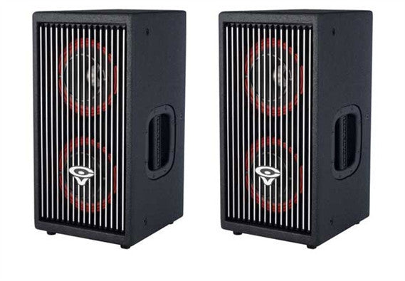 "Cerwin-Vega! (2) CVA-28 Dual 8"" 3-Way Powered Speaker Package - Sonido Live"
