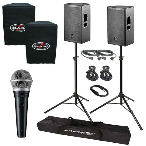 D.A.S. Action 12A Live Sound DJ Package with Shure PGA48 Microphone - Sonido Live