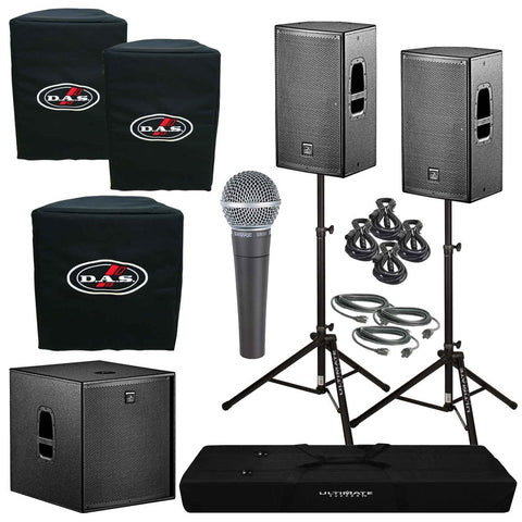D.A.S. Action 12A Powered Speakers & Action 18A Subwoofer Package - Sonido Live