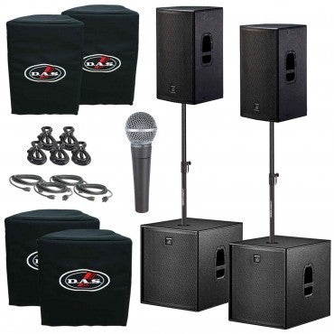 "D.A.S. Action 15A 15"" Powered Speakers & 18"" Subwoofers Duo Package - Sonido Live"