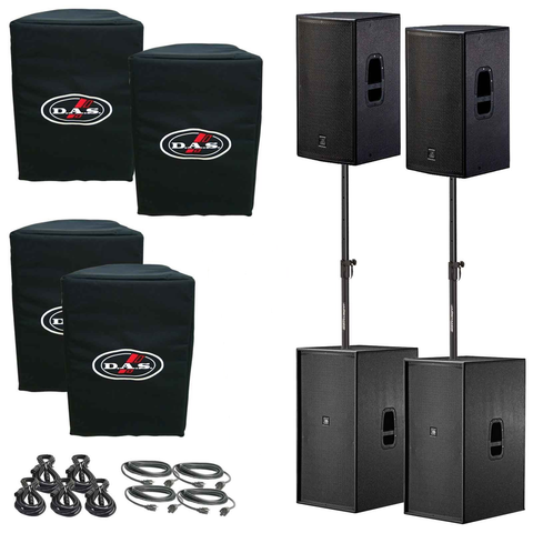D.A.S. Action 15A Powered Speaker & 218A Powered Subwoofer Live Sound DJ Package