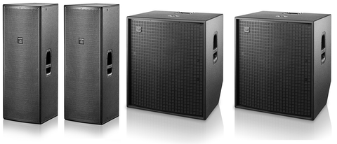 "D.A.S. Live Sound Package w/ (2) Action 215A Double 15"" Powered Speakers & (2) Action 118A Powered 18"" Subwoofer"