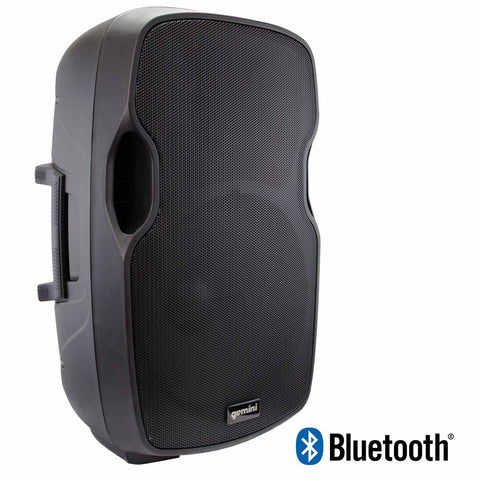 "Gemini AS-15BLU Powered 15"" Speaker with Built-in USB/SD/Bluetooth MP3 Player - Sonido Live"