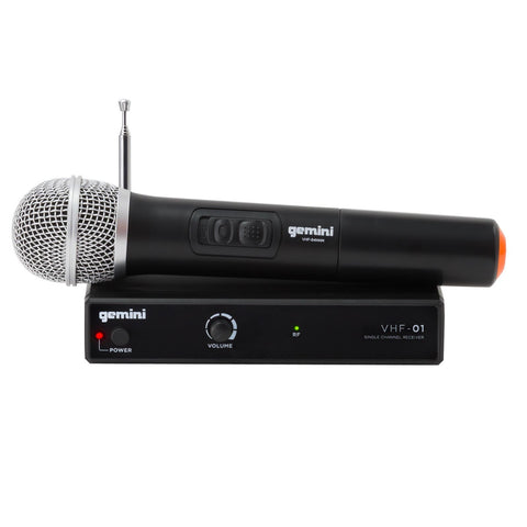 Gemini VHF-01M Single Channel VHF Wireless Handheld System - Sonido Live
