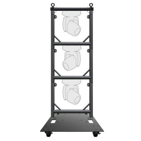 Global Truss Modular Lighting Quick Grid for Moving Heads in Black Trio Package