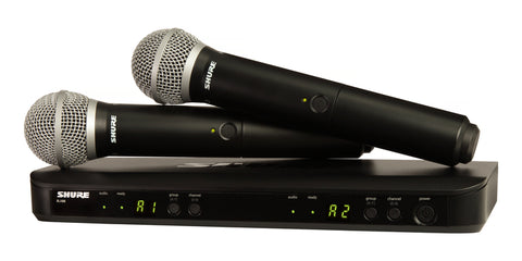 Shure BLX288/PG58 Dual Wireless Microphone System - Sonido Live