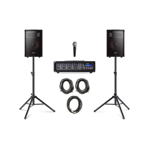Alesis PA System In A Box Bundle - Complete System with Accessories