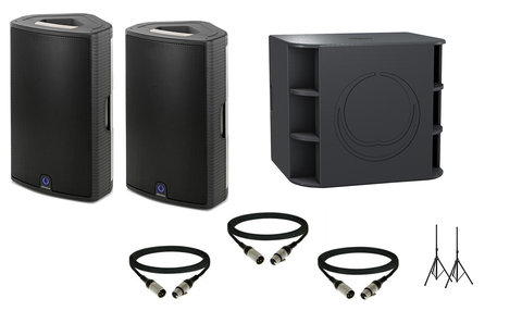 Turbosound Milan Package w/ (2) Milan M15 Powered Speakers & (2) Milan M18B Powered Subwoofers - Sonido Live