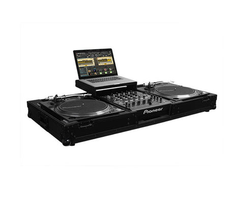 "Odyssey FFXGSLBM12WBL Flight FX Low Profile Glide Style DJ Controller Case for 12"" DJ Mixer & Turntables - Sonido Live"