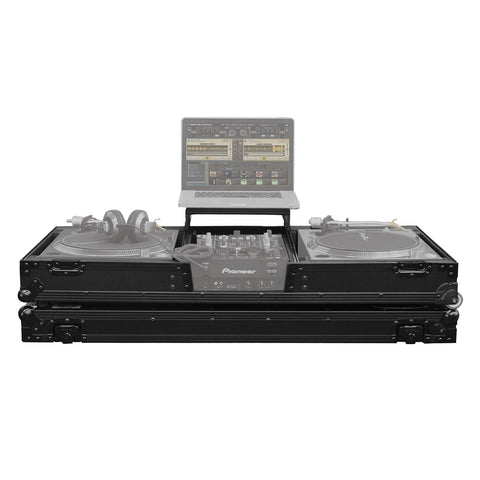 Odyssey FZGSLBM10WRBL Black Label Universal Turntable & 10-inch Mixer DJ Coffin Case with Wheels