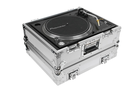 Odyssey FZ1200WT Universal Turntable Flight Case (White) - Sonido Live