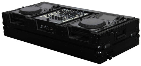 "Odyssey FZ12CDJWBL Black Label DJ Coffin for CDJ and 12"" Mixer - Sonido Live"