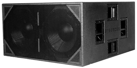 BASSBOSS ZV28 Dual 18-Inch 4000-Watt Powered Subwoofer - Sonido Live