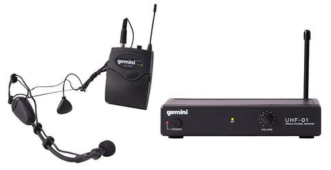 Gemini UHF-01HL F4-Single Channel Headset/Lavalier Wireless Microphone System