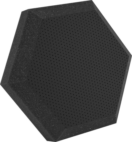"Ultimate Support UA-HX-12BK Hexagonal Foam Wall Panel - 12"" - Black Vinyl - Class B"