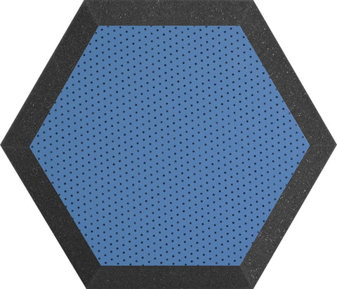 "Ultimate Support UA-HX-12BL Hexagonal Foam Wall Panel - 12"" -Blue Vinyl - Class B"