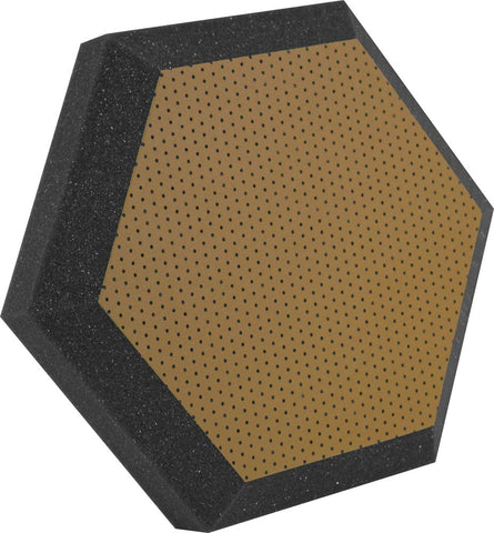 "Ultimate Support UA-HX-12BR Hexagonal Foam Wall Panel - 12"" -Bronze/Brown Vinyl - Class B"