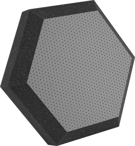 "Ultimate Support UA-HX-12GR Hexagonal Foam Wall Panel - 12"" - Gray Vinyl - Class B"
