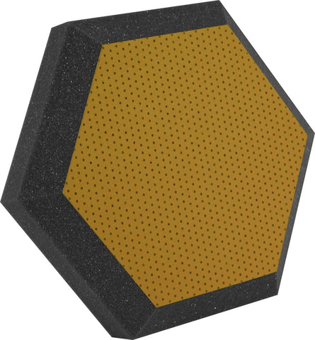 "Ultimate Support UA-HX-12KW Hexagonal Foam Wall Panel - 12"" - Butterscotch Vinyl - Class B"