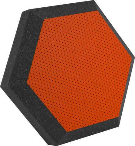 "Ultimate Support UA-HX-12OR Hexagonal Foam Wall Panel - 12"" - Orange Vinyl - Class B"