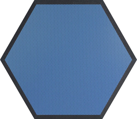 "Ultimate Support UA-HX-24BL Hexagonal Foam Wall Panel - 24"" - Blue Vinyl - Class B"