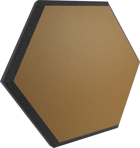"Ultimate Support UA-HX-24BR Hexagonal Foam Wall Panel - 24"" - Bronze/Brown Vinyl - Class B"