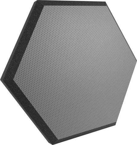 "Ultimate Support UA-HX-24GR Hexagonal Foam Wall Panel - 24"" - Gray Vinyl - Class B"