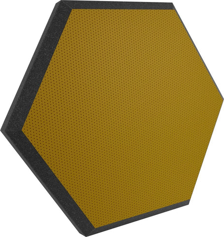 "Ultimate Support UA-HX-24KW Hexagonal Foam Wall Panel - 24"" - Butterscotch Vinyl - Class B"