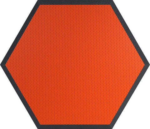 "Ultimate Support UA-HX-24OR Hexagonal Foam Wall Panel - 24"" - Orange Vinyl - Class B"