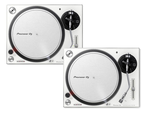 Pioneer DJ PLX-500-W Direct Drive DJ Turntable Package - Pair - White - Sonido Live