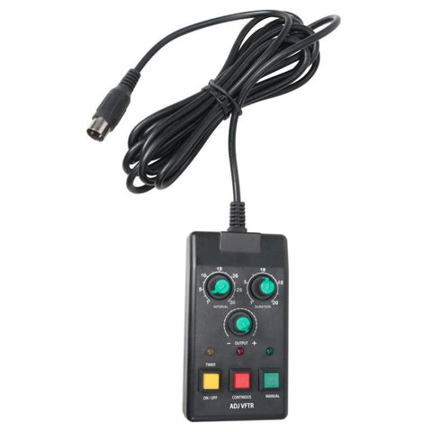The VFTR is a wired Timer Remote Control for select ADJ VF Series Fog Machines