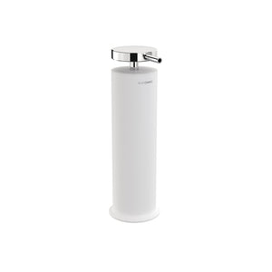 FREE STANDING SOAP DISPENSER WHITE