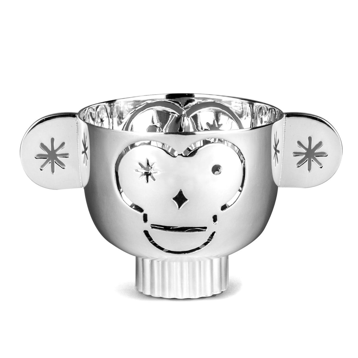 Monkos - Silver plated candle holder