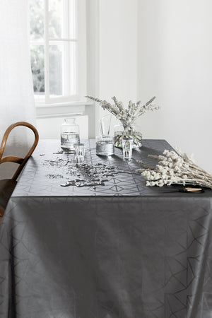Tablecloth Opal Grey 140x310 with coating