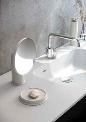FREE STANDING SOAP DISH WHITE