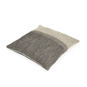 Jules Pillow 63x63cm Black herringbone