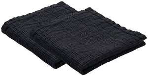Set of 2 LINEN dishcloths Dark Grey