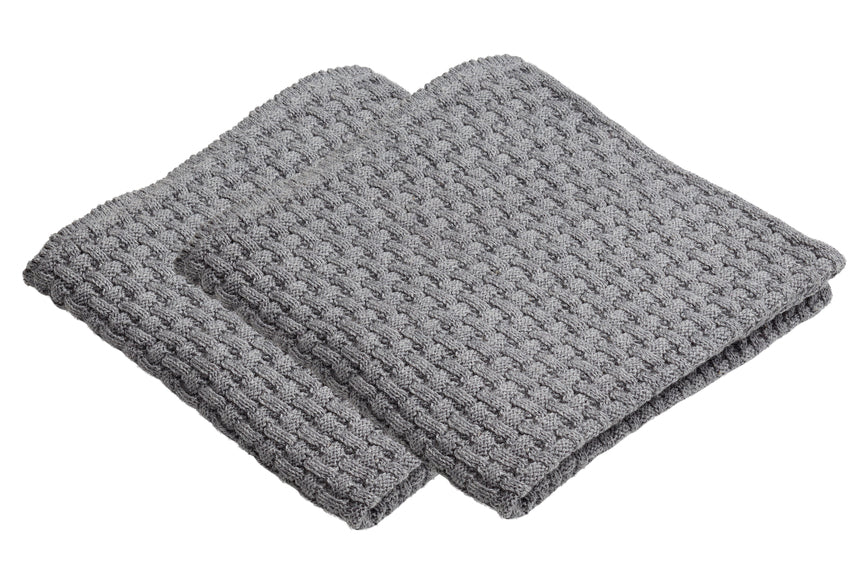 Set of 2 NORS dishcloths Grey Melange