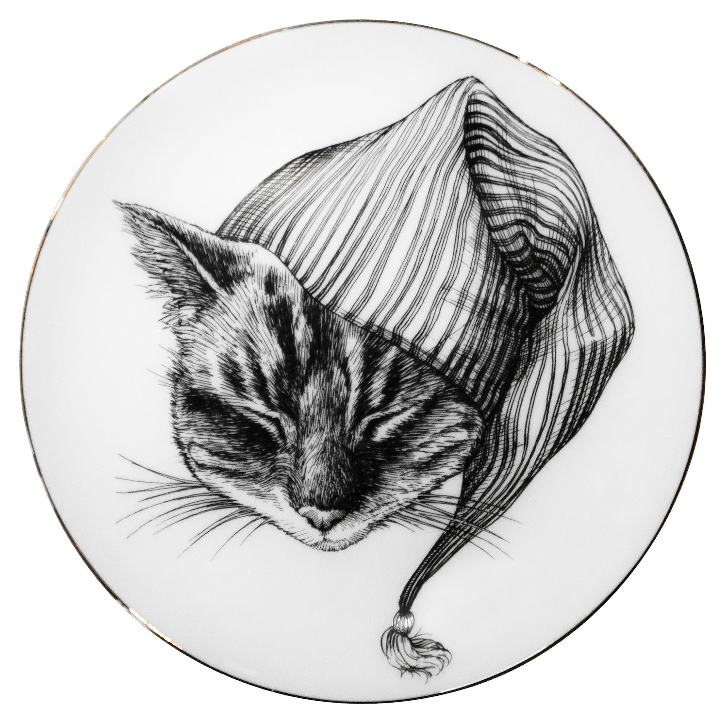 Sleepy Cat - Plate - Large