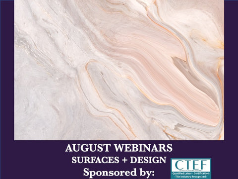 August - Free Webinars - Modern Materials for Contemporary Design