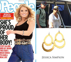 Jessica Simpson Large Gold Earrings
