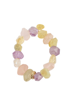 Multi Stone Pastel Stretch Bracelet